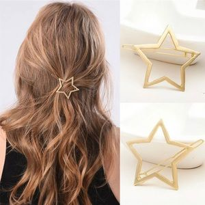 NIP Geometric Gold Star ⭐️hair barrette super cute